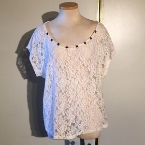 Torrid Lace Top with Studs